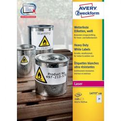 Etichette in poliestere Avery - laser - bianco - 63,5x33,9 mm - 24 - arrotondati (conf.100)
