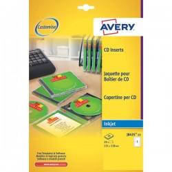 Copertine per custodie CD Avery per stampanti Inkjet - bianco - 1 et/ff (conf.25)