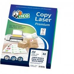 Etichette Copy Laser Prem.Tico per CD Las/Ink/Fot CD Ø 117mm bianco (conf.100)