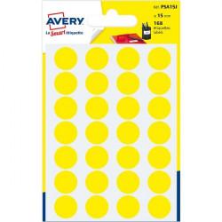 Etichette rotonde in bustina Avery - giallo - diam. 15 mm - 24 (conf.7)