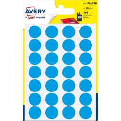 Etichette rotonde in bustina Avery - blu - diam. 15 mm - 24 (conf.7)