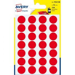 Etichette rotonde in bustina Avery - rosso - diam. 15 mm - 24 (conf.7)