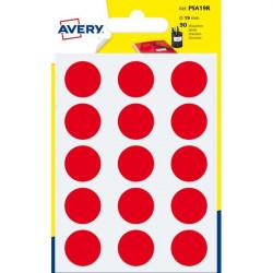 Etichette rotonde in bustina Avery - rosso - diam. 19 mm - 15 (conf.6)