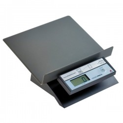 Pesalettere verticale obliquo Alba - nero - 22x10,5x24 cm - 5 kg - 2 g