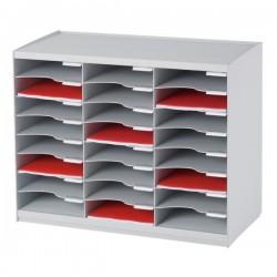 Sistema di smistamento corrispondenza Paperflow - 24 scomparti - grigio - 67,4x30,8x54,8 cm