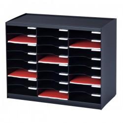 Sistema di smistamento corrispondenza Paperflow - 24 scomparti - nero - 67,4x30,8x54,8 cm