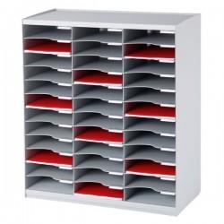 Sistema di smistamento corrispondenza Paperflow - 36 scomparti - grigio - 67,4x30,8x79,1 cm