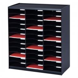 Sistema di smistamento corrispondenza Paperflow - 36 scomparti - nero - 67,4x30,8x79,1 cm