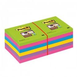 Post-it® Super Sticky Ultracolor -76x76mm-turchese,malva,girasole,fucsia,lime (conf.12)