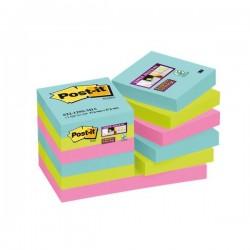 Foglietti Post-it® Super Sticky Miami - assortiti a tema Miami - 47,6x47,6 mm (conf.12)