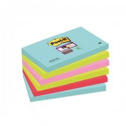 Foglietti Post-it® Super Sticky Miami - assortiti a tema Miami - 76x127 mm (conf.6)