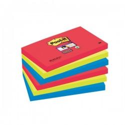 Post-it® Super Sticky colori Bora Bora- 76x127 mm - rosso verde acqua (conf.6)