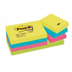Post-it® Note Energy - tinta unita - 100 - 38x51 mm - neon arcobaleno (conf.12)