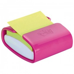 Dispenser ricaricabile per foglietti Post-it® Z-Notes PRO - 76x76 mm - bianco e fucsia