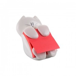 Dispenser Gatto Emotional Post-it® Z-Notes - 76x76 mm - bianco - rosso rubino