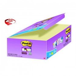 Foglietti Post-It® Super Sticky Value Pack - 58x31 mm - Giallo Canary™ - 622-Sscy-Vp24-Eu (Conf.21+3)