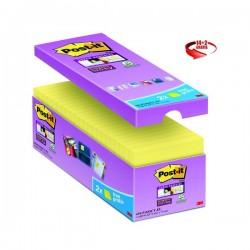 Foglietti Post-It® Super Sticky Value Pack - 76x76 mm - Giallo Canary™ - 654-Sscy-Vp16-Eu (Conf.14+2)