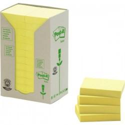 Post-it® Note in carta riciclata - giallo - 38x51 mm (conf.24)
