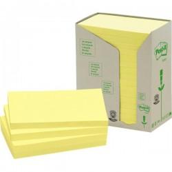 Post-it® Note in carta riciclata - giallo - 127x76 mm (conf.16)