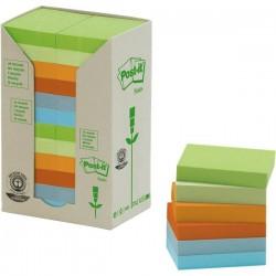 Post-it® Note in carta riciclata - assortiti pastello - 38x51 mm (conf.24)