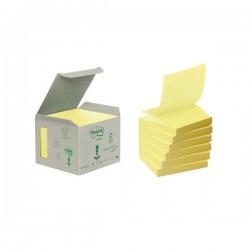 Ricariche Post-it® Z-Note Riciclate - 76x76 mm - giallo (conf.6)