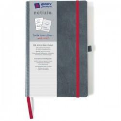 Quaderni rilegati Notizio Avery - A5 - righe 8 mm - grigio - 80