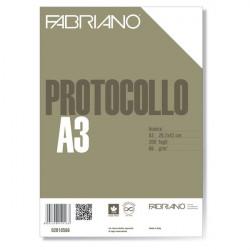 Fogli protocollo Fabriano - standard - bianco - 66 g/mq (conf.200)