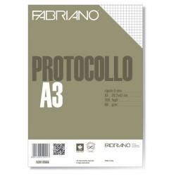 Fogli protocollo Fabriano - standard - 5 mm - 66 g/mq (conf.200)