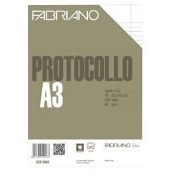 Fogli protocollo Fabriano - standard - rigato a 31 - 2 margini - 66 g/mq (conf.200)