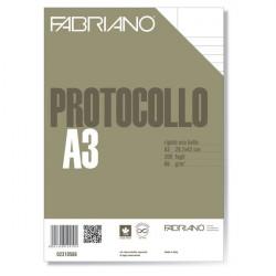 Fogli protocollo Fabriano - standard - rigato uso bollo - 66 g/mq (conf.200)