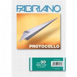 Fogli protocollo Fabriano - in blister - 4 mm - 60 g/mq (conf.30)