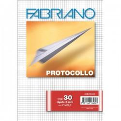 Fogli protocollo Fabriano - in blister - 5 mm - 60 g/mq (conf.30)
