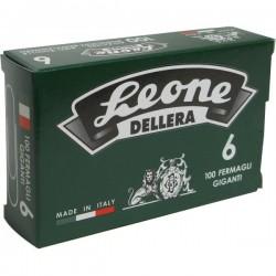 Fermagli zincati Leone Dell'Era - Punte triangolari - N 4 - 32 mm (conf.100)