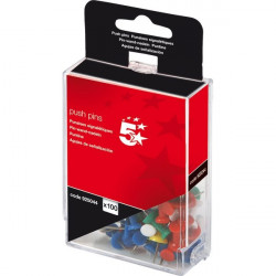 Push pins assortite 5 Star - opaco (conf.100)