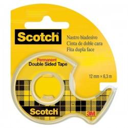 Chiocciola ricaricabile nastro biadesivo Scotch® 665 - 12 mm x 6,3 m