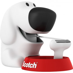 Dispenser Scotch® Magic™ Dog - bianco e rosso