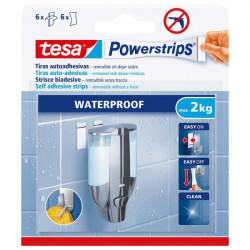 Strisce biadesivo Powerstrips removibili Tesa - 6 strisce large - bianco - 59700-00000 (conf.6)