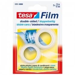 Nastro biadesivo trasparente tesafilm Tesa - Rotolo - 12 mm x 7,5 m (conf.2)