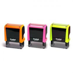 Timbri Autoinchiostranti Printy 4.0 Neon Trodat - 58x22 mm - 6 - Arancio Neon