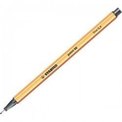 Fineliner Point 88 Stabilo - nero - 0,4 mm (conf.10)