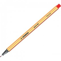 Fineliner Point 88 Stabilo - rosso - 0,4 mm (conf.10)