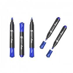 Marcatore permanente 5 Star - scalpello - blu - 1-5mm (conf.12)