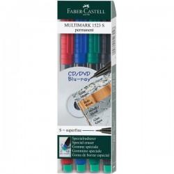 Marcatore permanente Multimark Faber Castell - Punta fine - assortiti - 0,6 mm (conf.4)