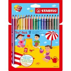 Matite colorate Trio Maxi Stabilo - 4,2 mm (conf.18)