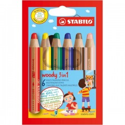 Pastelli Woody 3 in 1 Stabilo (conf.6)