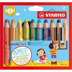 Pastelli Woody 3 in 1 Stabilo (conf.10)