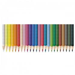 Matite Colorate Acquerellabili Colour Grip Faber Castell - Astuccio Cartone (Conf.24)