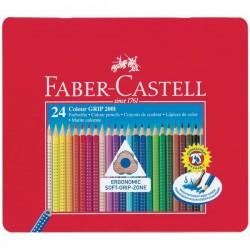 Matite Colorate Acquerellabili Colour Grip Faber Castell - Astuccio Metallo (Conf.24)