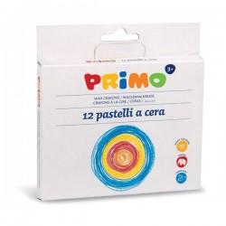 Pastelli a cera jumbo Primo - 29x28,5x15 cm - fasciati - assortiti (conf.24)