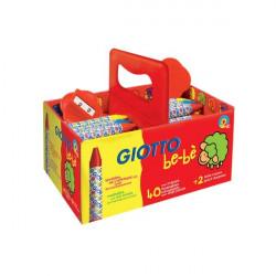 Schoolpack Superpastelli a cera Giotto Be-bè - 5 mm - da 2 anni in poi (conf.40)